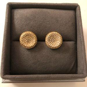 Michael Kors - pave gold stud earrings